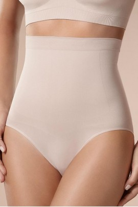 Beige Slimming High Waist Brief